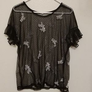 Maurices black sheer top